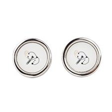 Audiology Round Cufflinks