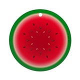 Watermelon Ring Ornament (Round)