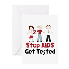 Stop Aids Get Tested Greeting Cards