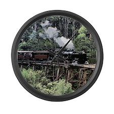 Heritage Narrow Gauge Steam Railw Large Wall Clock