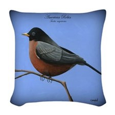 Robin Woven Throw Pillow