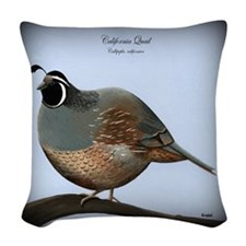 Quail Woven Throw Pillow