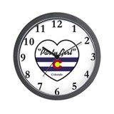Party Girl Colorado Wall Clock