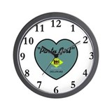 Party Girl Delaware Wall Clock