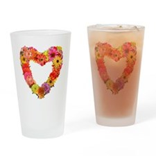Eileen's Floral Heart Drinking Glass