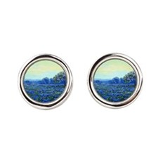 Onderdonk - Field of Bluebonnets Round Cufflinks