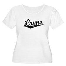 Layne, Retro, Plus Size T-Shirt