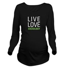 Sociology Long Sleeve Maternity T-Shirt