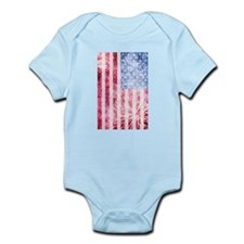 4th of July - American Firework Flag Body Suit