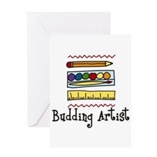 Budding Artist Greeting Cards