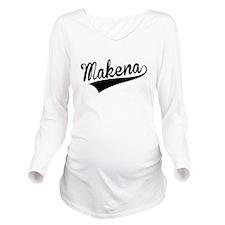 Makena, Retro, Long Sleeve Maternity T-Shirt