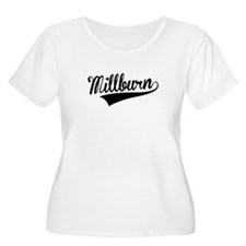 Millburn, Retro, Plus Size T-Shirt