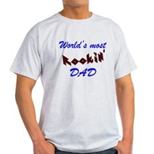 Worlds most Rockin Dad Funny Fathers Day T-Shirt