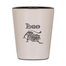 Leo for dark backgrounds Shot Glass