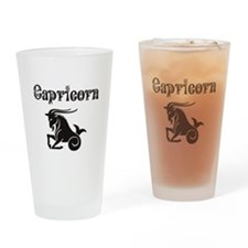 Capricorn Drinking Glass