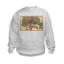 Map of Baltimore. 1822 Sweatshirt