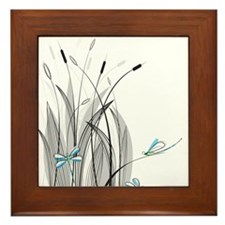 Dragonflies Framed Tile