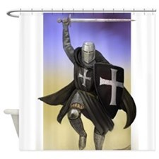 Funny Crusade Shower Curtain