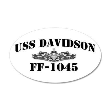 USS DAVIDSON 20x12 Oval Wall Decal