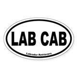 Lab Cab Oval D&#233;calcomanies