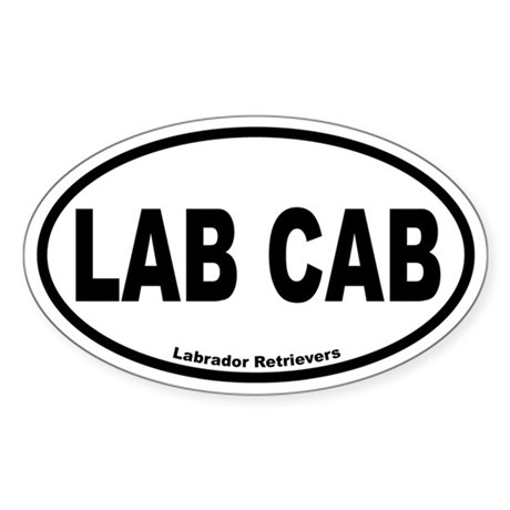Lab Cab Oval Sticker