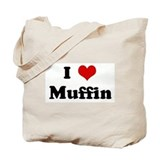 I Love Muffin Tote Bag