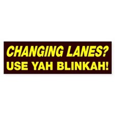 Changing Lanes Bumper Bumper Sticker