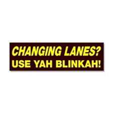 Changing Lanes Car Magnet 10 x 3