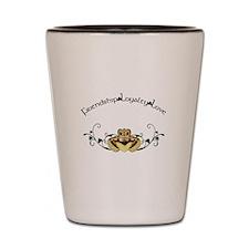 Irish Claddagh Shot Glass