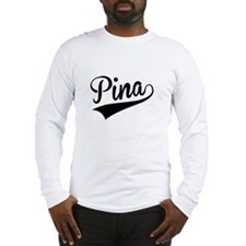 Pina, Retro, Long Sleeve T-Shirt