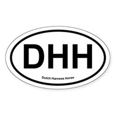 DHH Dutch Harness Horse oval Decal