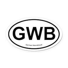 GWB German Warmblood oval Oval Car Magnet