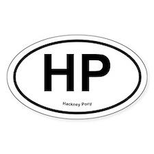 HP Hackney Pony oval Decal