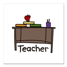 "Teacher Square Car Magnet 3"" x 3"""