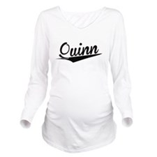 Quinn, Retro, Long Sleeve Maternity T-Shirt
