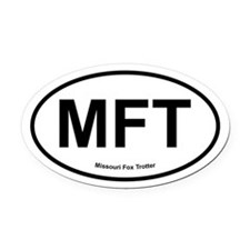 MFT Missouri Fox Trotter oval Oval Car Magnet