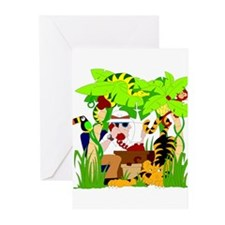 ITS A JUNGLE OUT THERE Greeting Cards (Package of