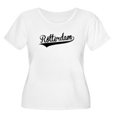 Rotterdam, Retro, Plus Size T-Shirt