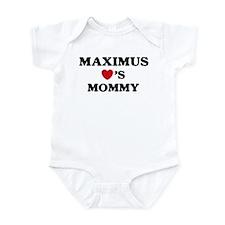 Maximus loves mommy Infant Bodysuit
