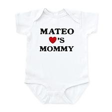 Mateo loves mommy Infant Bodysuit