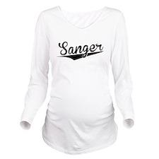 Sanger, Retro, Long Sleeve Maternity T-Shirt