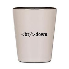 breakdown HTML Shot Glass