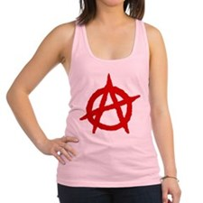 Anarchist 1 (red) Racerback Tank Top