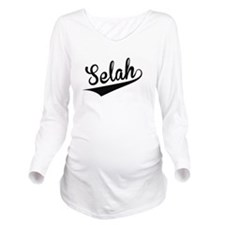 Selah, Retro, Long Sleeve Maternity T-Shirt