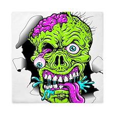 Green Zombie Head Queen Duvet