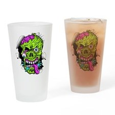 Green Zombie Head Drinking Glass