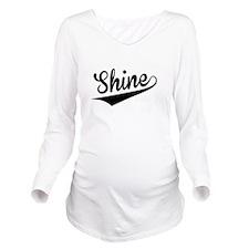 Shine, Retro, Long Sleeve Maternity T-Shirt