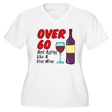 Over 60 Fine Wine Plus Size T-Shirt