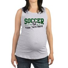 Soccer Personalized Maternity Tank Top