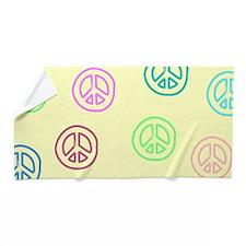 Peace Signs Beach Towel